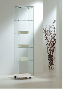 Glass display cabinet LL ofe4/18 40 X 40 X 180 Cm Made in Italy