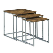 Relaxdays Set of 3 Nesting Tables, Size