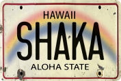 Hawaiian Vintage Postcards Pack of 30 - Shaka Licence Plate
