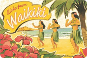 Hawaiian Vintage Postcards Pack of 30 - Aloha From Waikiki by Kerne Erickson