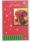 Christmas Card for Daughter (For a beautiful daughter) American Greetings