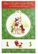 Christmas Card for Daughter and Family( When a daughter and her family are loved as much as you) American Greetings