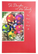 Christmas Card for Daughter and Family( For Daughter and her family you mean so much) American Greetings
