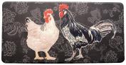 Stephan Roberts Premium Anti-Fatigue Kitchen Mat, 50cm x 100cm x.13cm , Black Rooster/Multicoloured