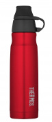THERMOS Vacuum Insulated Stainless Steel Carbonated Beverage Bottle, 500ml, Red