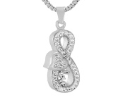 Casket Etcetera Infinity Collections Cremation Urn Ashes Pendant Necklace Jewellery For Women