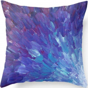 Yoler Art Decorative Throw Pillow Cases Square 18*46cm Pillow Covers Home Decor Sofa Cushion Blue Painting Satin Pillowcases