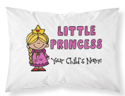 """Customizable, """"Little Princess"""" Pillowcase. Personalised With Your Child's Name - Perfect Gift For Little Girls Of All Ages!"""
