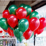 Merry Christmas Latex Balloons 25cm 0ml Thickening Pearl Balloons for Wedding Birthday Party Festival Christmas Decorations Red and Green Balloons