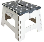 Orgalif Heavy Duty Folding Step Stool with Anti Slip Dots & Strong Support Step Ladder for Adults and Kids