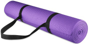 BalanceFrom GoYoga All Purpose High Density Non-Slip Exercise Yoga Mat with Carrying Strap