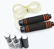 Jump Rope, Tennove Professional Jump Rope Weighted Adjustable skipping Rope, Comfortable Foam Handles, Non-tangle, Max Rope Length 3m, PVC Steel Cable for Exercise, Cross fit, Workout, Fitness