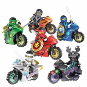 Phantom Ninja Minifigures Building Block Toy Motorcycle Chariot With Box