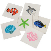 Assorted Coral Reef Ocean Life Temporary Tattoos