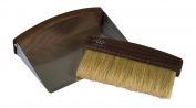 Bürstenhaus Redecker Oiled Thermowood Table Sweeping Set, 16cm by 10cm