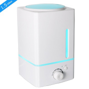 1500ml Ultrasonic Essential Oil Diffuser Humidifier- Exqline Large Capacity Aromatherapy Diffuser, Cool Mist Humidifier, No Noise, Mist Level Control, 7 Colour Changing LED Lights