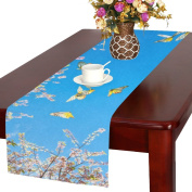 Artsadd Cherry Blossom And Butterflies Kitchen Dining Table Runner 41cm x 180cm For Dinner Parties, Events, Decor