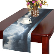 Artsadd Moon And Clould Kitchen Dining Table Runner 36cm x 180cm For Dinner Parties, Events, Decor