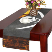Artsadd Pirate Flag Burning Kitchen Dining Table Runner 36cm x 180cm For Dinner Parties, Events, Decor
