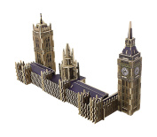 Lychee 3D Wooden Jigsaw Puzzle Construction Kit, Elizabeth Tower World's great architecture Big Ben Woodcraft DIY Toy Kit