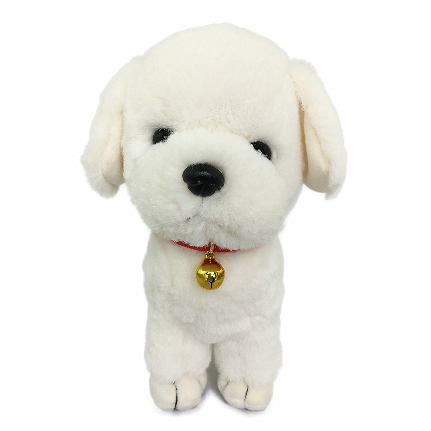 Ice King Bear Cute Labrador Puppy Plush With Golden Bell Stuffed