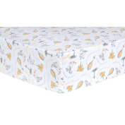 Trend Lab Dr. Seuss Oh, The Places You'll Go! Quotes Fitted Crib Sheet, Aqua/Orange/Yellow