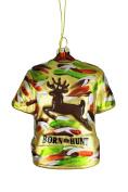 """Ceramic Camo Shirt """"Born to Hunt"""" Christmas Tree Ornament"""
