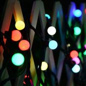 JOJOO Battery Powered 50 LED 5.2m Colourful Globe String Lights Christmas Lights for X-mas, Garden, Patio, Outdoor Decor, Multi LT029