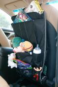 Spaco Multipurpose Backseat Organiser + Kids/Baby Travel Storage + Kick Mat Protectors+iPad and Tablet Holder