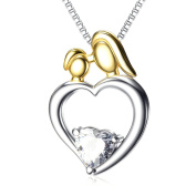 YFN Mother Child Thanksgiving Christmas Birthday Gift 925 Sterling Silver Mom Necklace