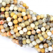 Natural Colour Unpolished Crazy Lace Agate Round Gemstone Loose Beads for Bracelet