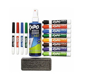 EXPO : Low-Odour Dry Erase Marker, Eraser & Cleaner, Chisel/Fine, 12 per Set -:- Sold as 2 Packs of - 1 - / - Total of 2 Each