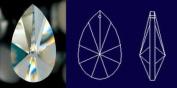 "38mm 1.5"" 30% Lead Teardrop Sun catcher Crystal Prism"