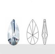 "Asfour 63mm 30% lead crystal Prism Teardrop - 2.5"" Clear Suncatcher Feng Shui"