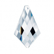 crystal 5.1cm Clear Faceted Vintage Kite Pendeloque Prism Amazing Clarity & Shine with Strass Logo Engraved