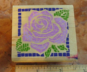 Rose Mosaic Square Rubber Stamp #A650E by Rubber Stampede