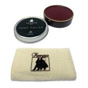Famaco 50ml Oxblood Shoe Polish & Polishing Cloth Shoe Care Kit For Dr Martens & Similar