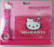 Official Licenced Hello Kitty Trifold Nylon Wallet & Watch