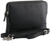 StilGut Crossbody Bag, Soft Leather Shoulder Bag for Woman, Black