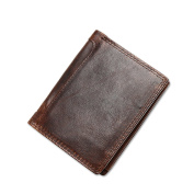 The Ninth Day Men Genuine Leather Vintage Luxury Wallet with Triple Fold Extra Capacity for Money Clip,