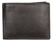 Men's Brown Genuine Leather Wallet Without Logos or Markings