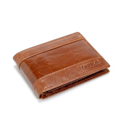 The Ninth Day Men Genuine Leather Wallet with Triple Fold Extra Capacity
