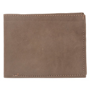 Desert Town Premium Soft Leather Mens Single Fold Wallet Dark Brown Wallet 13cm