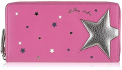 Radley 'Night shift' large zip around leather wallet pink