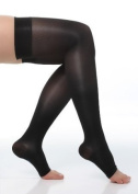 BriteLeafs Sheer Compression Stockings Thigh High 20-30 mmHg, Firm Support, Open Toe, Stay-Up Silicone Band
