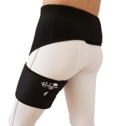 Groyne Wrap, Adjustable Support for Hip, Groyne, Hamstring, Thigh, and Sciatic Nerve Pain relief