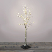 1.5m Warm White LED Birch Style Plug-in Tree with 48 Bright LEDs