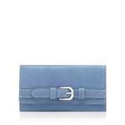 The Collection Womens Light Blue Flap-Over Buckle Wallet