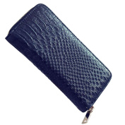 Badiya Leather Wallet for Women Alligator Pattern Long Clutch Organiser