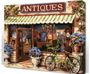 Diy oil painting, paint by number kit- European Style 16*50cm .